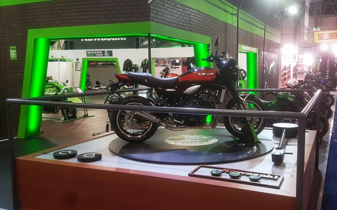 Exhibition Stand Giveaways : How taylex built the exhibition stand for kawasaki at nec