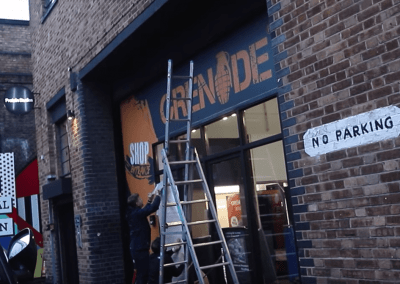 GRENADE POP UP SHOP DESIGN